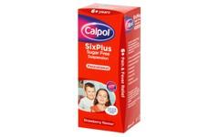 Calpol Six Plus Sugar-Free Strawberry Flavour Suspension 200ml
