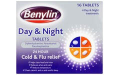 Benylin 24 Hour Cold & Flu Day & Night Tablets Pack of 16