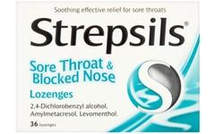 Strepsils Lozenges Sore Throat & Blocked Nose Pack of 36