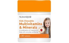 Numark Kids Chewable Multivitamins & Minerals Tablets Pack of 30