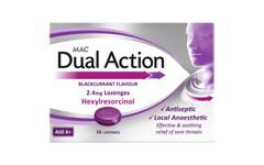 MAC Dual Action Blackcurrant Flavour Lozenges Pack of 16