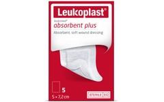 Leukoplast Leukomed Absorbent Plus Wound Dressing 5cm x 7.2cm Pack of 5