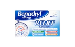 Benadryl Allergy Relief 8mg Capsules Pack of 48