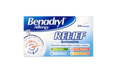 Benadryl Allergy Relief Capsules Pack of 24