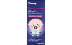 Paracetamol 120mg/5ml Sugar Free Oral Suspension 100ml