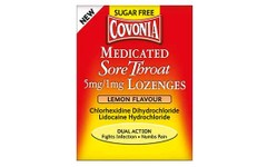 Covonia Medicated Sore Throat Lozenges Lemon Pack of 36