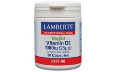 Lamberts Vegan Vitamin D3 1000iu Capsules Pack of 90
