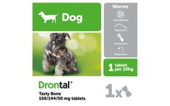 Drontal Dog Tasty Bone Tablet Pack of 1
