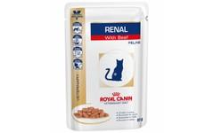 Royal Canin Veterinary Diet Feline Renal Beef Wet 48 x 85g Pouch