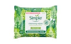 Simple Biodegradable Cleansing Wipes Pack of 20