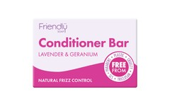 Friendly Soap Lavender & Geranium Conditioner Bar 95g