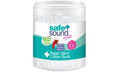 Safe & Sound Paper Stem Cotton Buds Pack of 300