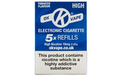 OK Vape Refills High Strength Tobacco Flavour Pack of 5