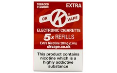 OK Vape Refills Extra Strength Tobacco Flavour Pack of 5