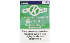 OK Vape Refills High Strength Menthol Flavour Pack of 5