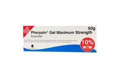 Phorpain Maximum Strength Ibuprofen Gel 50g