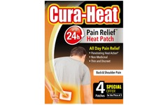 Cura-Heat Heat Packs Back & Shoulder Pain Pack of 3+1